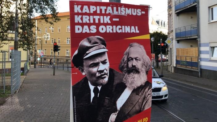 Landtagswahl in Thüringen: Wahlplakat der MLPD