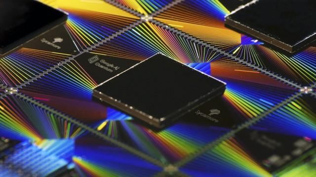 Quantencomputer von Google: Illustration des Sycamore-Prozessors