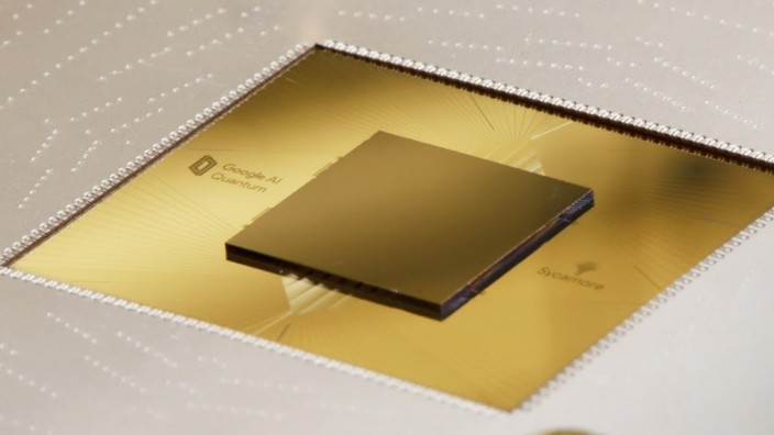 Chip eines Quantencomputers