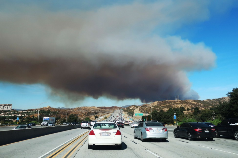 The Tick Fire Burns In Canyon Country, California