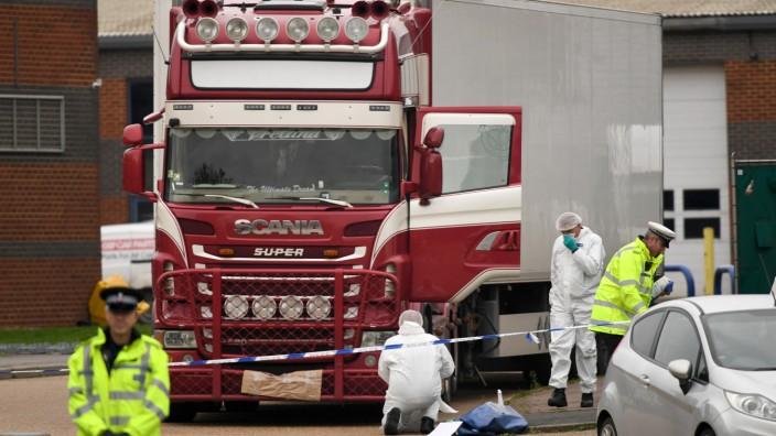 Tote in Container in Großbritannien entdeckt
