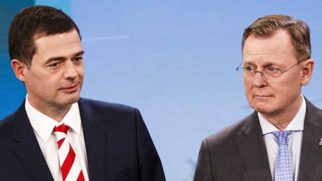 Thüringen: Mike Mohring (CDU) und Bodo Ramelow (Die Linke)