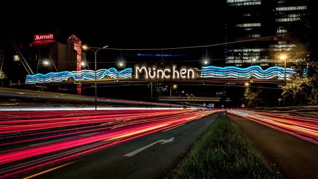 Münchner Lichtwoche 2016, Donnersberger Brücke