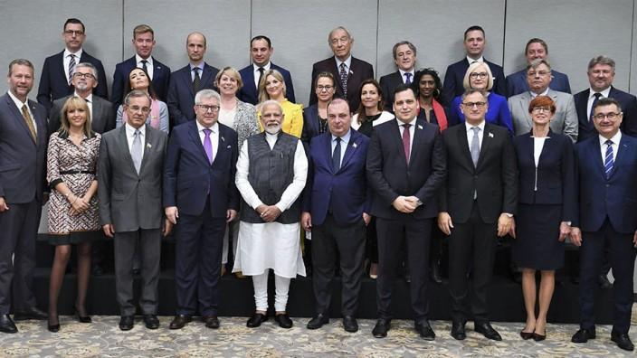 Narendra Modi EU-Abgeordnete Indien