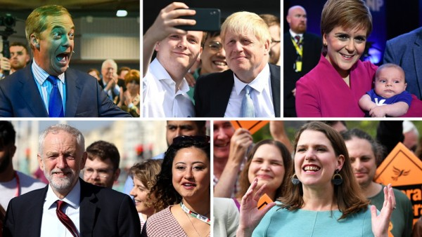 Brexit: Die führenden Köpfe der größten Parteien vor der Neuwahl 2019