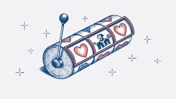 Eine Illustration: Eine Slot Maschine für die Münchner Liebe.