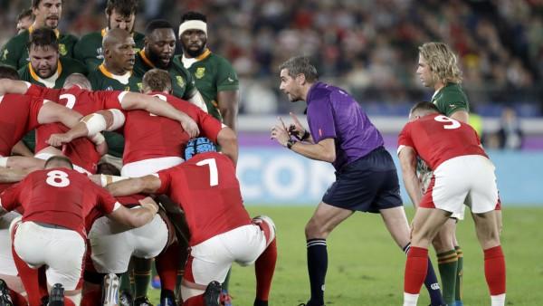 Rugby: Schiedsrichter Jerome Graces beim WM-Halbfinale 2019
