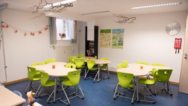 """Planegg: Die Kinder der beiden Mittagsbetreuungsgruppen """"Biberburg"""" und """"Bärenhöhle"""" sind seit vielen Jahren in den Kellerräumen der Schule untergebracht."""