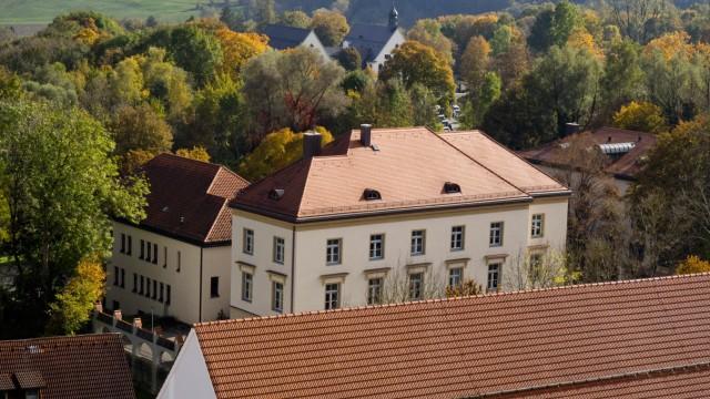 Ebersberg Ansichten aus Höhe auf den Ortskern.
