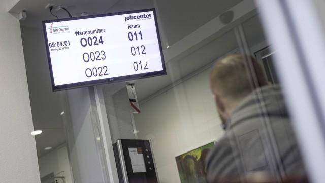 Wartebereich in einem Jobcenter in Bielefeld am 12 01 2016 Jobcenter in Bielefeld Copyright epd bi