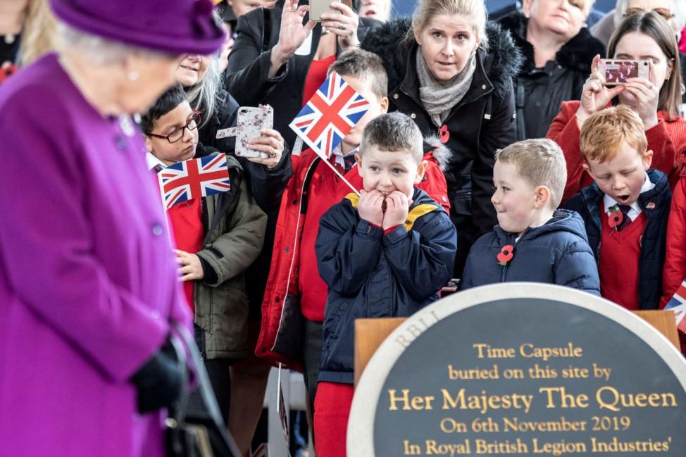Britain's Queen Elizabeth II visits Royal British Legion Industries village in Aylesford