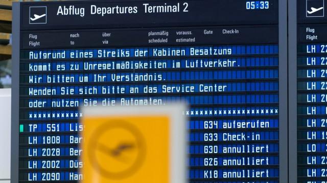 Flugbegleiter-Streik bei Lufthansa