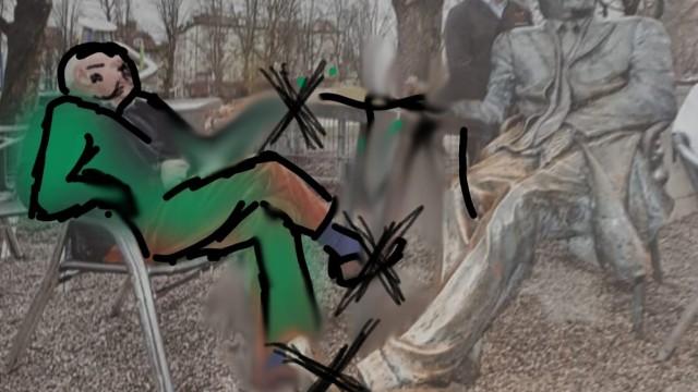 Entwurf des Helmut-Dietl-Denkmals an der Münchner Freiheit