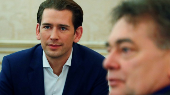 Head of OeVP Kurz meets head of Green Party Kogler in Vienna