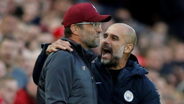 Premier League: Die Trainer Jürgen Klopp (FC Liverpool) und Pep Guardiola (Manchester City)
