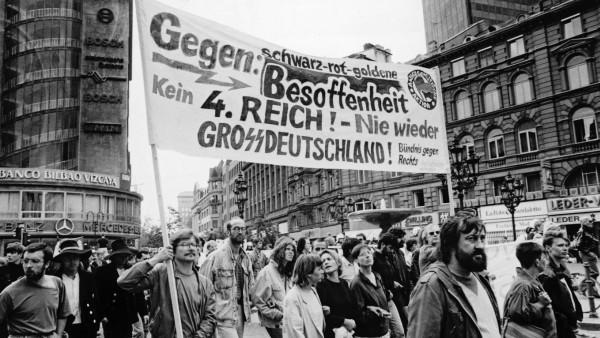 Demo gegen die Wiedervereinigung