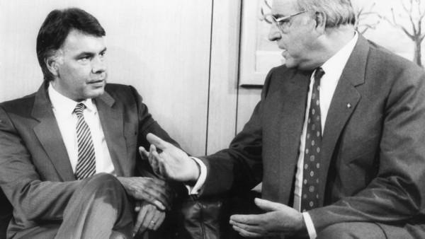 Felipe Gonzalez und Helmut Kohl, 1985
