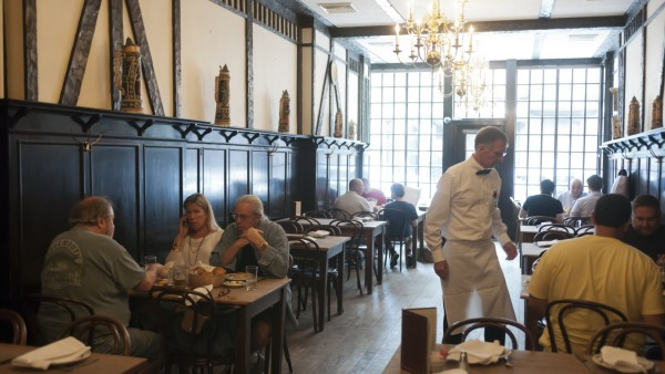 voted best steakhouse in USA The Peter Luger Steak House in Williamsburg, Brooklyn in New York is seen on Tuesday, July