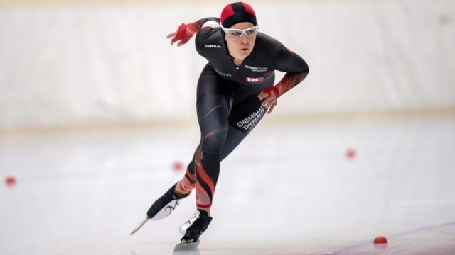 Eisschnelllauf Inzell 08.11.2019 Saison 2019 / 2020 Deutsche Meisterschaften DM Michelle Uhrig *** Speed skating Inzell