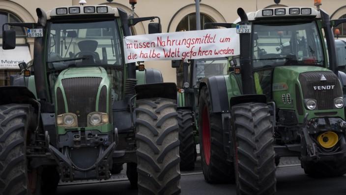 Landwirte demonstrieren in München gegen Agrarpolitik der Bundesregierung, 2019