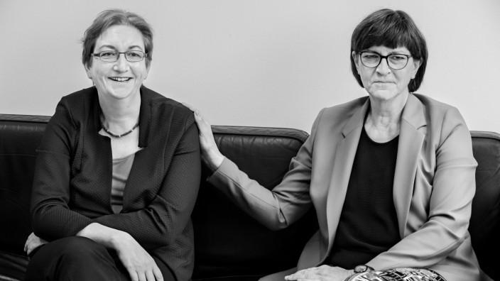 Klara Geywitz und Saskia Esken