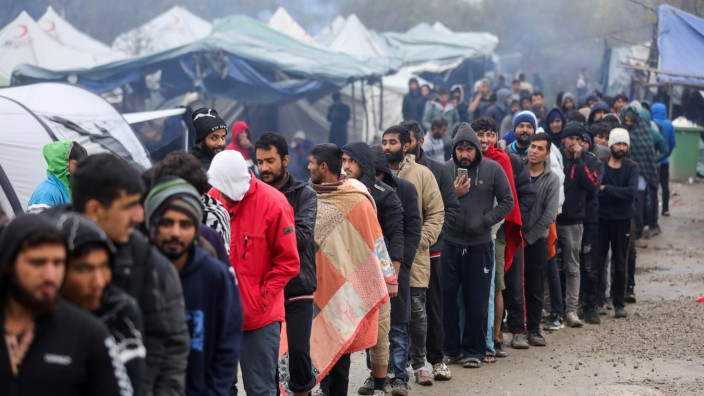 Migrants staying at the Vucjak camp near Bihac 11.11.2019., Bihac, Bosnia and Herzegovina - There are between 1000 and