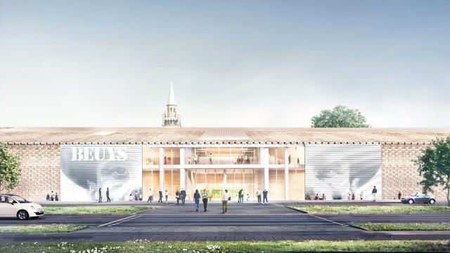 Der Entwurf vom Museum der Moderne in Berlin