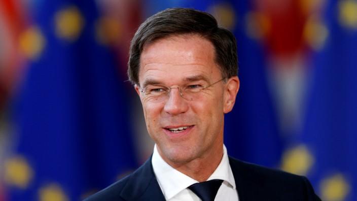 Netherlands' PM Rutte arrives at a EU leaders informal summit in Brussels