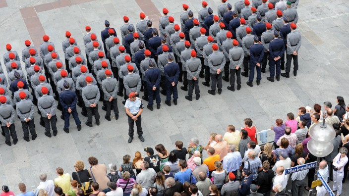 Rekruten-Gelöbnis in München