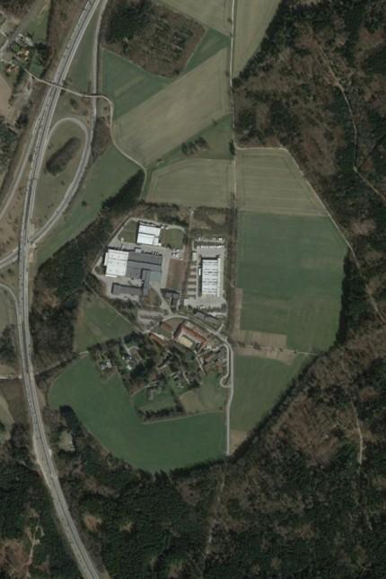 Gewerbegebiet Schorn: Die Fläche liegt nördlich des Briefzentrums in Schorn, das im Luftbild zu sehen ist.