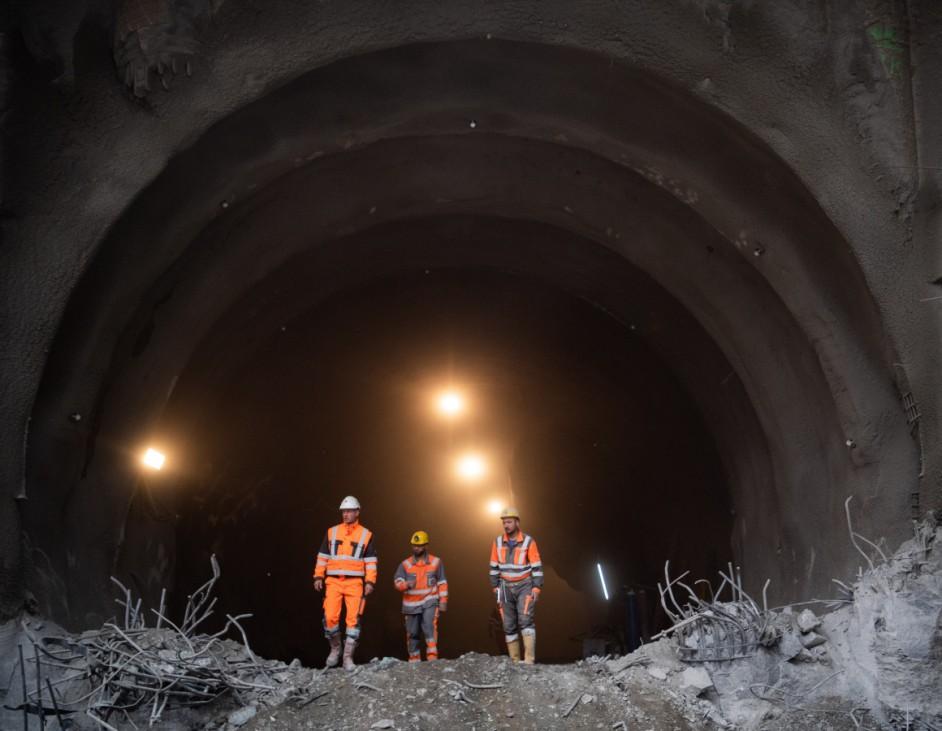 Tunneldurchschlag in Untertürkheim