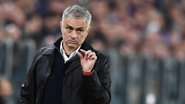 Jose Mourinho beim Champions-League-Spiel Juventus gegen Manchester United
