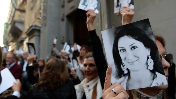 Die Journalistin Daphne Caruana Galizia auf einem Bild