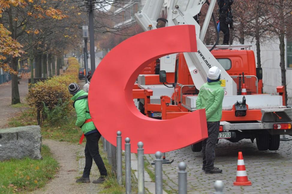 Greenpeace-Klimaprotest vor CDU-Bundesgeschäftsstelle