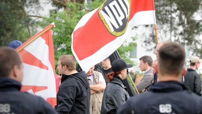 NPD-Kundgebung in Brandenburg