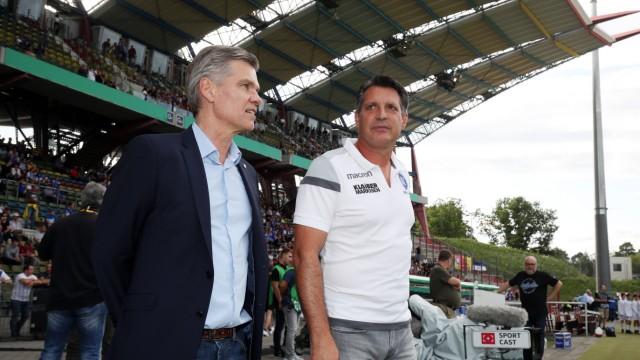 Karlsruher SC Hannover 96 Deutschland Karlsruhe 192 08 2019 Fussball DFB Pokal Saison 2019 20; Wellenreuther und Schwartzer Karlsruher SC