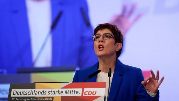 Kramp-Karrenbauer auf dem CDU-Parteitag.