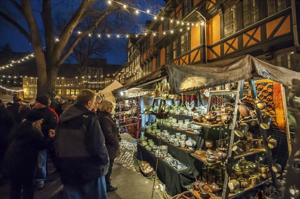 Weihnachtsmarkt Quedlinburg 2019 Sachsen-Anhalt Adventsmarkt Advent Weihnachten Markt  Unesco Welterbe