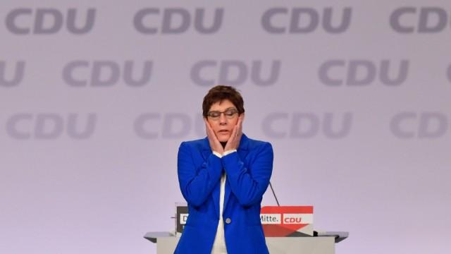 CDU-Chefin Annegret Kramp-Karrenbauer in Leipzig