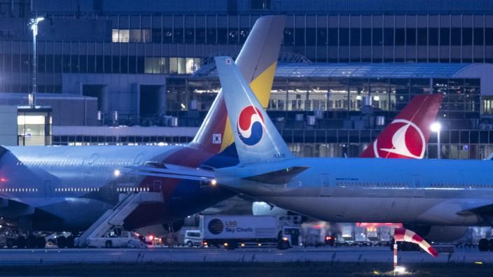 Nachtflugverkehr auf dem Flughafen Frankfurt