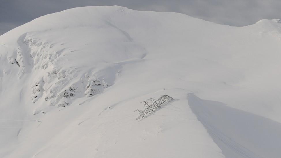 Schäden nach Unwettern in Österreich