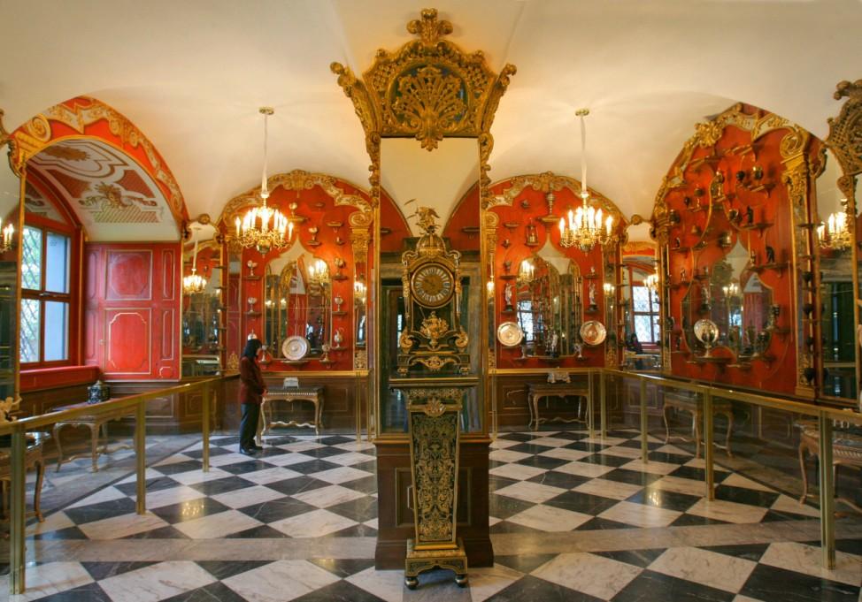Weißsilberzimmer im Grünen Gewölbe in Dresden