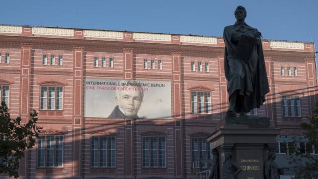 Bauakademie Deutschland Berlin 19 08 2017 Kulisse Denkmal Karl Fiedrich Schinkel Â