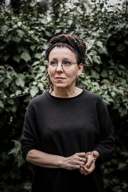 Writer Olga Tokarczuk is pictured in Warsaw