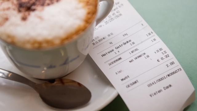 Kassenbonpflicht - Cappuccino mit Kassenbon