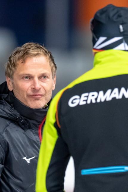 EISSCHNELLLAUF - Erik Bouwman am 08.11.2019 während der Eisschnelllauf Deutsche Meisterschaft Einzelstrecke - Max Aicher