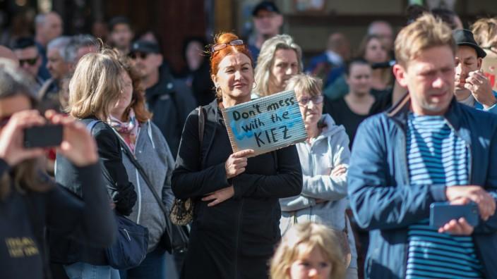 Berlin Kreuzberg Markthalle 9 Am Samstag den 14. September 2019 protestierten ca. 200 Menschen in Berlin Kreuzberg unter