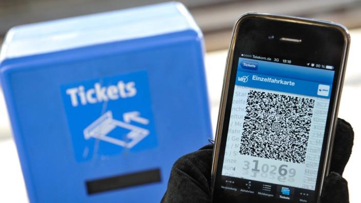 Fahrschein per Smartphone in München, 2013