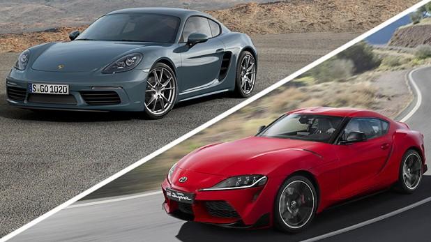 Autotest Porsche gegen Toyota: Platzhirsch gegen Wiedereinsteiger: Porsche 718 Cayman S und Toyota Supra im Vergleich