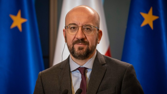 Incoming European Council president Charles Michel visits